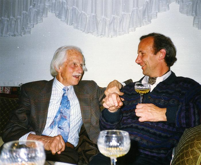 Sir George Trevelyan and Peter Dawkins