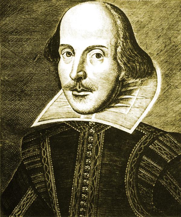 Folio portrait of Shakespeare