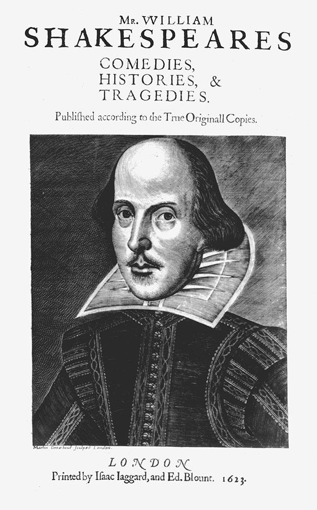 Shakespeare-folio 1623 titlepage