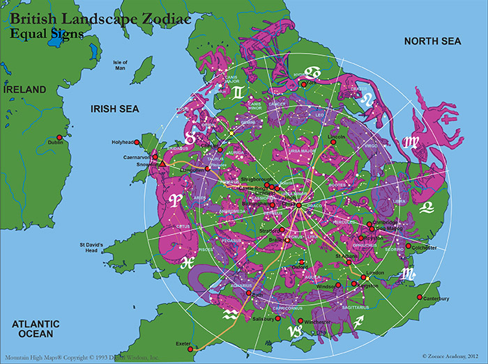 British landscape zodiac