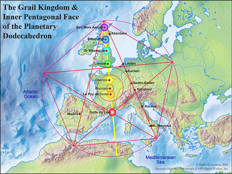 The Grail Kingdom and inner pentagonal face of the Planetary Dodecohedron